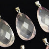 High Quality MadagascarRose Quartz AAA-Faceted Pear Shape 26x15x8mm Pendant 1pc
