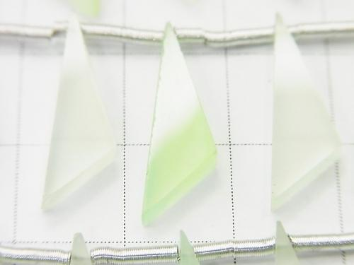 1strand $12.99! High Quality Light Green Chalcedony AAA Flat Triangle 20x6x3mm 1strand (10pcs)