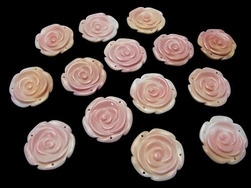 Queen Conch Shell AAA Rose  25mm [3 holes] 1pc $6.79!