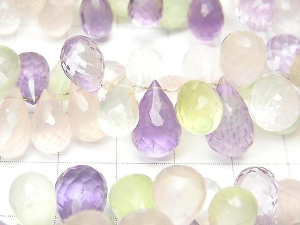 High Quality Mixed Stone AAA- Drop  Faceted Briolette  half or 1strand (aprx.7inch/18cm)