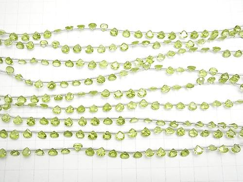 1strand $19.99! High Quality Peridot AA++ Chestnut  Faceted 6x6x3mm 1strand (23pcs )