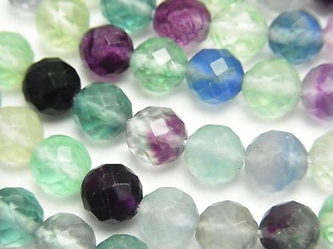 Multicolor Fluorite AA ++ 64Faceted Round 8mm half or 1strand (aprx.15inch / 38cm)