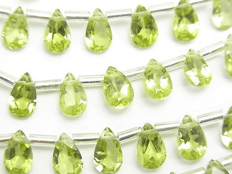 High Quality Peridot AAA Pear shape Faceted 8x5x3mm half or 1strand (20pcs )
