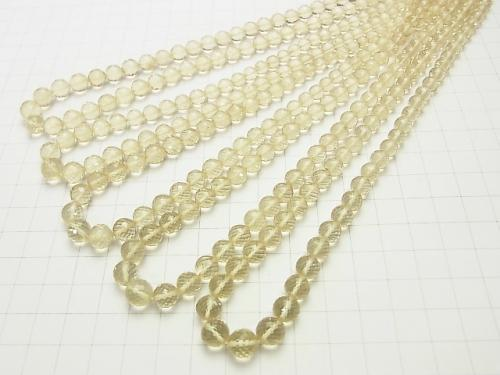 MicroCut! High Quality Scapolite AAA Round cut size gradation half or 1strand (aprx.15inch / 38cm)