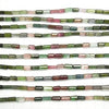 1strand $79.99! High Quality Multicolor Tourmaline AAA Faceted Tube 1strand (aprx.7inch / 17cm)