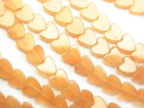 1strand $5.79! Orange Aventurine Vertical Hole Heart 6x6x3mm1strand (aprx.15inch / 38cm)