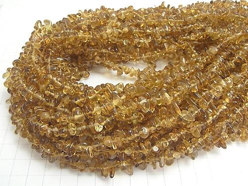 1strand $14.99! High Quality Beer Crystal Quartz AAA- Chips (Small Nugget ) 1strand (aprx.35inch/88cm)
