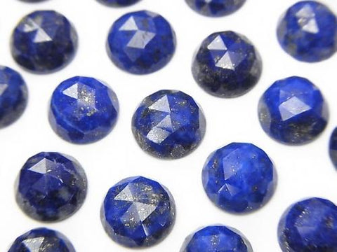 Lapislazuli AA++ Round Rose Cut 8x8x4mm 3pcs $8.79!