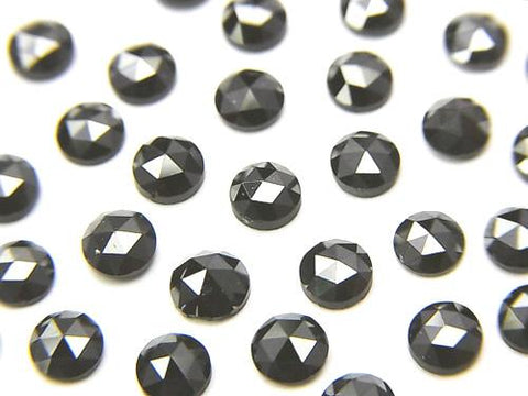 Black Diamond AAA Round Rose Cut 4x4x2mm 1pc $13.99!