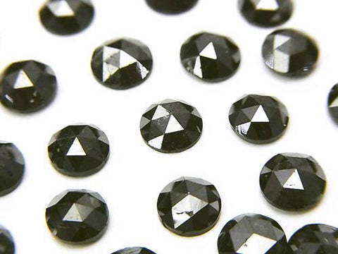 Black Diamond AAA Round Rose Cut 6x6x2.5mm 1pc $39.99!