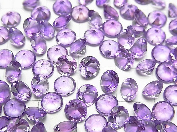 High Quality Amethyst AAA Undrilled Round Faceted 6x6mm 5pcs $5.79!