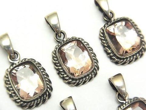 High Quality Morganite AAA Rectangle Faceted Pendant 13x12x5mm Silver925 - kenkengems.com
