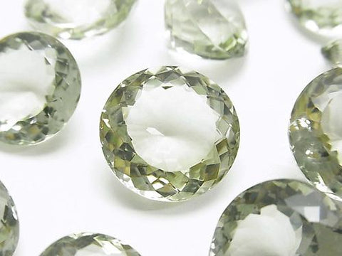 High Quality Green Amethyst AAA Undrilled Round Faceted Size Mix 2pcs $29.99!