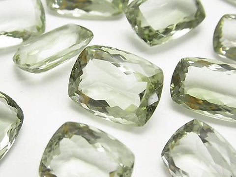 High Quality Green Amethyst AAA Undrilled Rectangle Faceted Size Mix 2pcs $29.99!