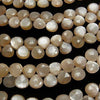 High Quality Orange-Brown Moon Stone AAA- Chestnut Faceted Briolette half or 1strand (aprx.8inch/20cm)