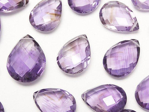High Quality Amethyst AA ++ Faceted Pear Shape Size Mix 3pcs $12.99!