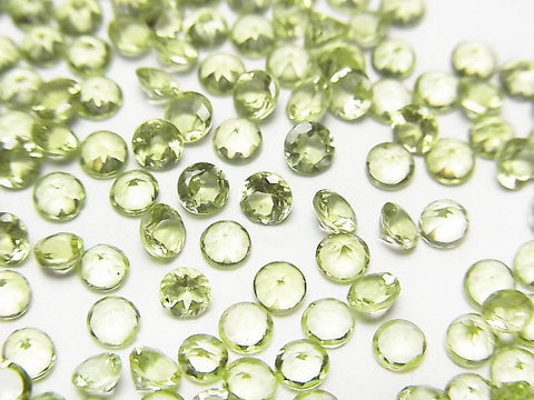 High Quality Peridot AAA Undrilled Round Faceted 3x3x2mm 10pcs $3.79!