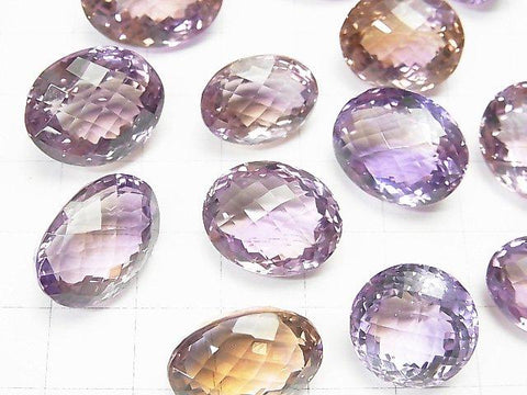 High Quality Ametrine AAA Undrilled Oval -Round Faceted Size Mix 3pcs $59.99!