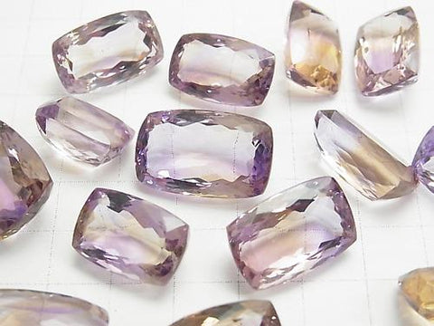 High Quality Ametrine AAA Undrilled Rectangle Faceted Size Mix 3pcs
