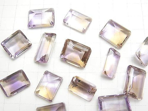 High Quality Ametrine AAA Undrilled Rectangle Faceted (Step Cut) Size Mix 3pcs