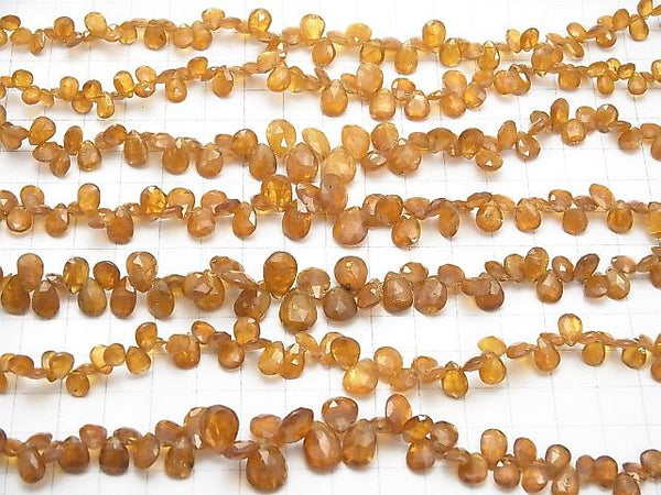 1strand $39.99! Orange Kyanite AA ++ Pear shape Faceted Briolette 1strand (aprx.7inch / 18cm)