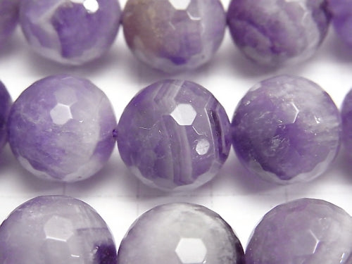 Striped Amethyst 128 Faceted Round 14mm 1/4 or 1strand (aprx.15inch / 38cm)