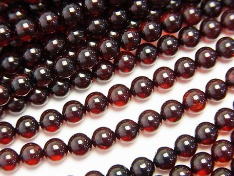 Baltic Amber Round 4mm cherry color half or 1strand (aprx.15inch / 38cm)