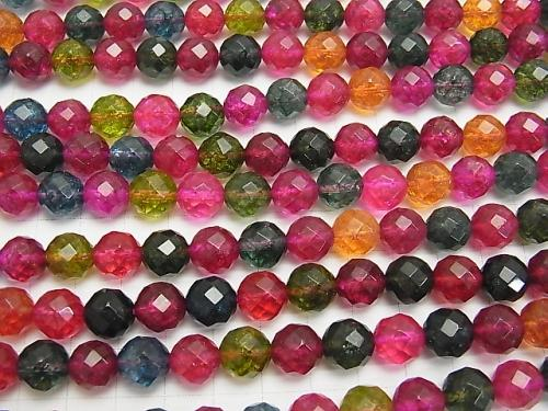 Multicolor Crystal 64 Faceted Round 10mm half or 1strand (aprx.15inch / 36cm)