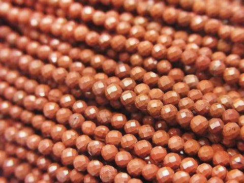 High Quality! 1strand $4.79! Red Jasper AAA Faceted Round 2mm 1strand (aprx.15inch / 37cm)