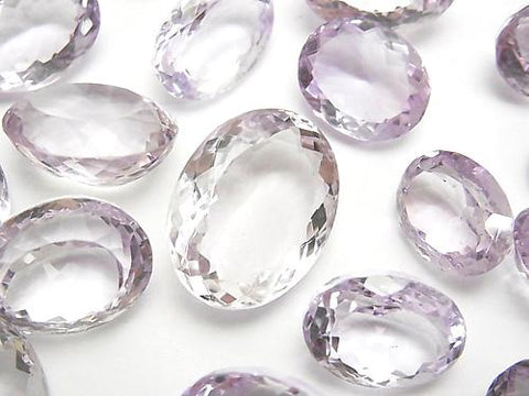 High Quality Pink Amethyst AAA Undrilled Oval Faceted Size Mix 3pcs $19.99!