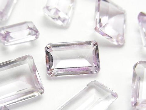 High Quality Pink Amethyst AAA Undrilled Rectangle Faceted (Step Cut) Size Mix 3pcs $15.99!