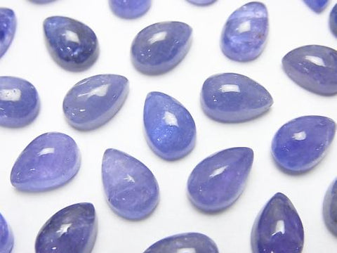 High Quality Tanzanite AAA- Pear shape Cabochon 9x6mm 4pcs $19.99!