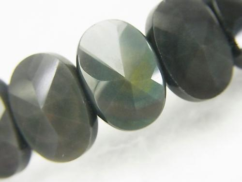 Rainbow Obsidian AAA 2 Holes Faceted Oval 14x10x5mm 1strand (Bracelet)