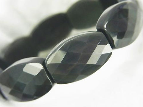 Rainbow Obsidian AAA 2 Holes Faceted Rectangle 22x14x8mm 1strand (Bracelet)