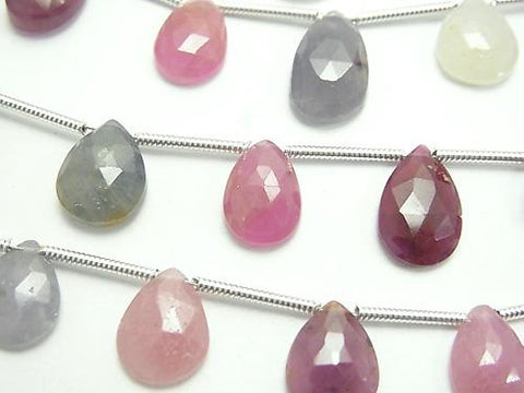 1strand $27.99 High Quality Multicolor Sapphire AA ++ Pear shape Rose Cut 1strand