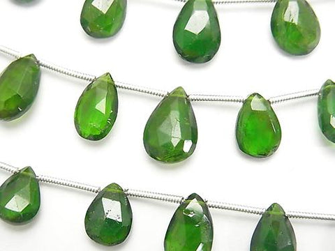 1strand $17.99 Chrome Diopside AA ++ Pear shape Faceted Briolette 1strand (aprx.6inch / 16cm)