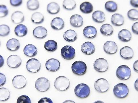 High Quality Iolite AAA Rose Cut  Round 3x3mm 10pcs $2.79!