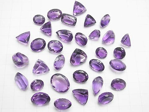 High Quality Amethyst AAA Undrilled Mix Shape Faceted 2pcs $29.99!