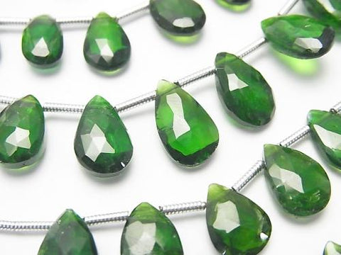 1strand $34.99! Chrome Diopside AA ++ Pear shape Faceted Briolette 1strand (aprx.7inch / 17cm)