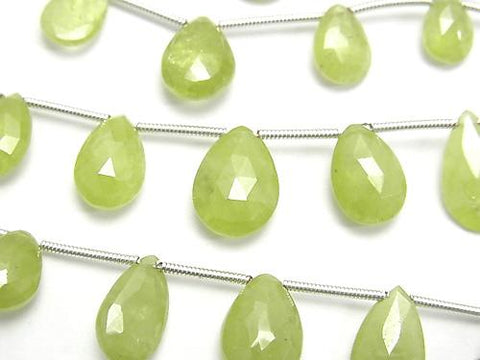 1strand $49.99! High Quality Sphene AAA- Pear shape  Faceted Briolette  1strand (15pcs )