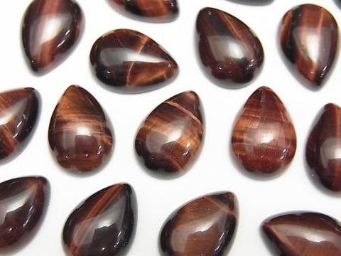 Red Tiger Eye AA ++ Pear shape Cabochon 14x10mm 3pcs $3.79!