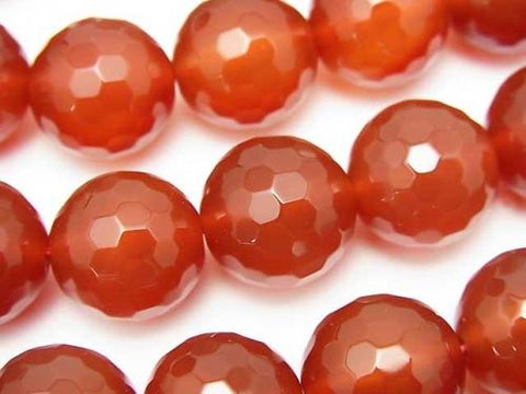Red Agate AAA 128 Faced Round 14mm half or 1strand (aprx. 14inch / 35cm)