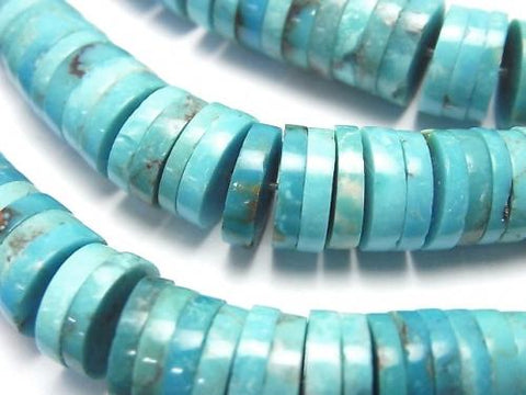 1strand $79.99! Turquoise AA ++ Tube (Roundel) 3-10mm size gradation 1strand (aprx.15inch / 38cm)