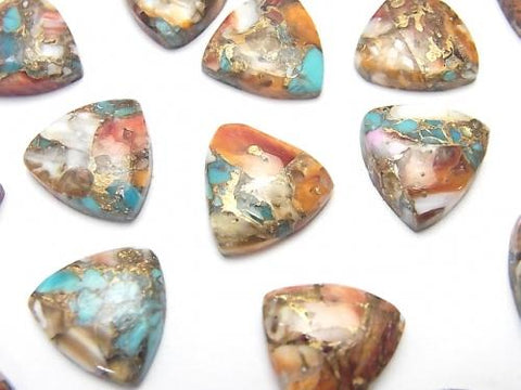Oyster Copper Turquoise Triangle Cabochon 12x12mm 4pcs $8.79!