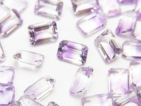 High Quality Bicolor Amethyst AAA Undrilled Rectangle Faceted 7x5mm 4pcs $9.79!
