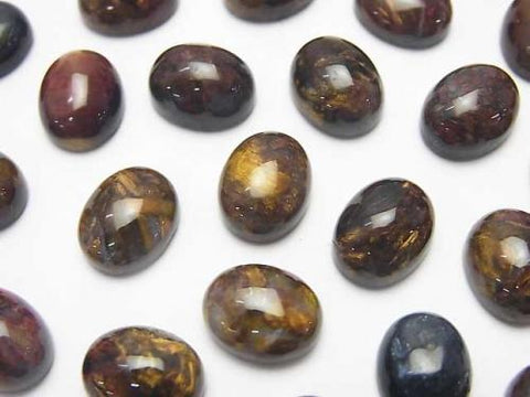 Pietersite AAA- Oval Cabochon 10x8mm 2pcs $6.79!
