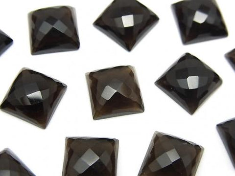 High Quality Smoky Crystal Quartz AAA Square Faceted Cabochon 10x10mm 2pcs $6.79!