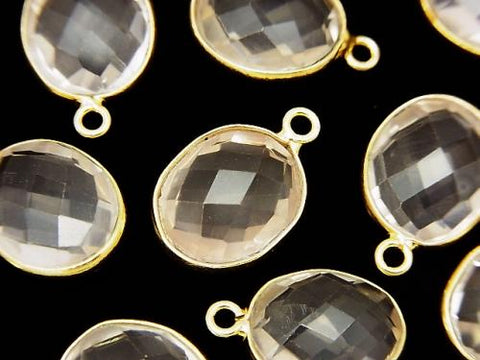 High Quality Rose Quartz AAA- Bezel Set  Faceted Oval 13x11mm 18KGP 3pcs $9.79!