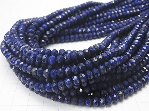 Diamond Cut!  1strand $14.99! Lapislazuli AAA--AA++ Faceted Button Roundel 6x6x4mm 1strand (aprx.15inch/36cm)