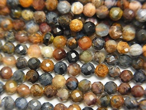 Diamond Cut!  1strand $6.79! Pietersite AAA- Faceted Round 3mm  1strand (aprx.15inch/38cm)